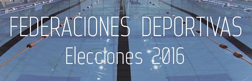 Federaciones deportivas Elecciones 20162